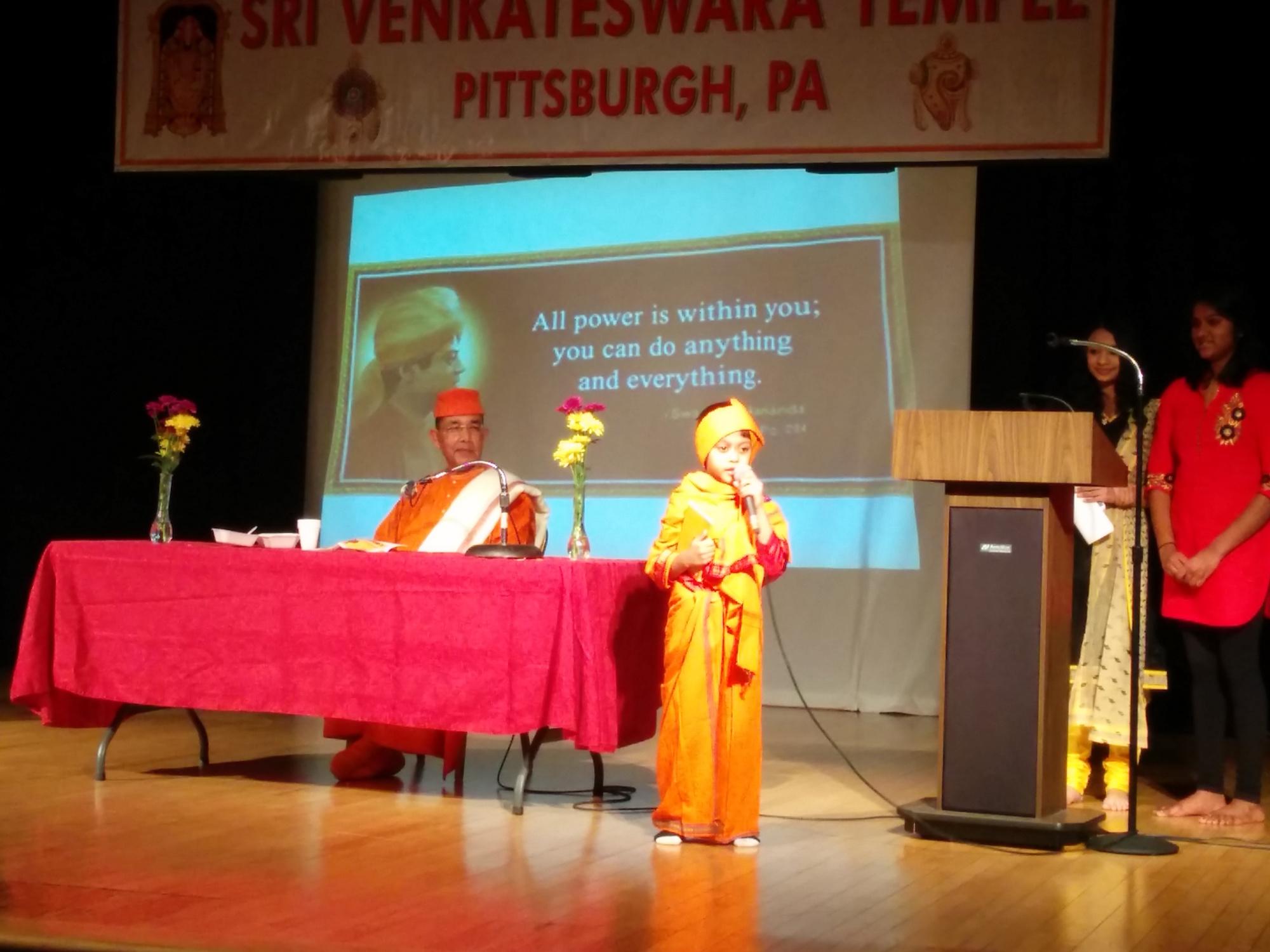 Swami Ishatmananda visit Mar2015 - 19
